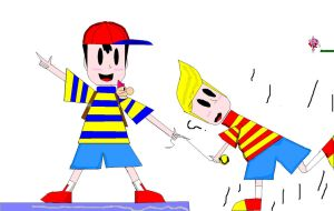 NESS AND LUCAS INCOMPLETE by RayRamador