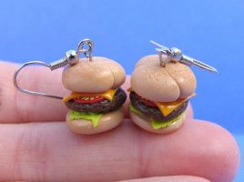 Burgers with the Works by MotherMayIjewelry