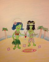 Hawaiian Ace and Ivy by DarkRoseDiamond123