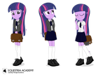 Twilight Sparkle, Equestria Academy Ver. by dm29