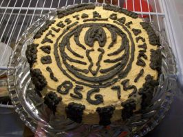 Battlestar Cake by Syagria