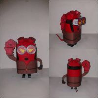 Minion Papercraft - Red Minion by Verllow666
