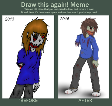 Draw this again meme : Zombie by Misuto-Gesshoku