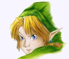 Link - Ocarina of time by OwlArtist