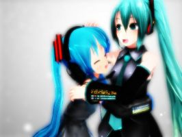 I love my miku model sister ~ by BabcinyPasztet