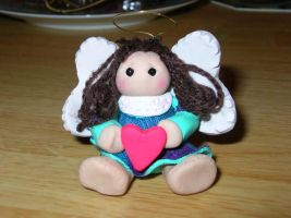 Angel Ornament by KM-Galleries