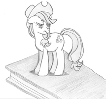 Day 5 - Tiny Applejack is Not Amused by littlecolt