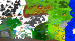 Dawn of Warriors ::: Territory Map [Labeled] by sparkeythehamster