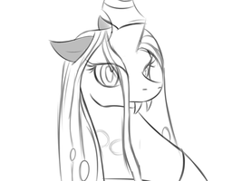 Queen Chrysalis - sketch by anti-keyblade76
