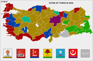 Votes of Turks in 2009 by AY-Deezy