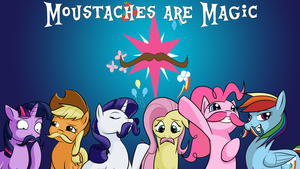Moustaches are Magic: Wallpaper Edition by Acesential