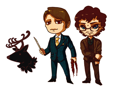 Hannibal Sticker set by Moonlight-Mage-Shiro