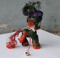 Little Pony Zombie by Tat2ood-Monster