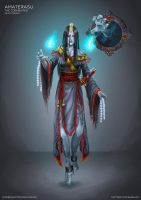 Amaterasu: The Tormented - Skin Concept for Smite by karulox