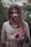 Blond zombie girl 1 by Estelle-Photographie