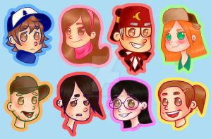 Gravity Falls Stickers (Update) by chum-cha-sha