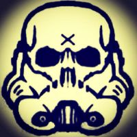Stormtrooper Skull Logo for Murderink Tattoos Aust by murderink88