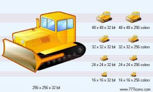 Bulldozer Icon by security-icon-set