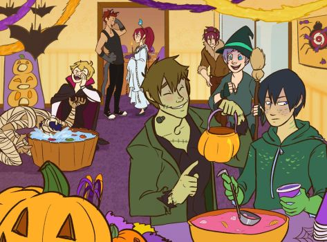 A Free! Halloween by sunami56