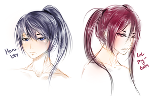 rin and haru with pohnie tayuls by Babogatchi