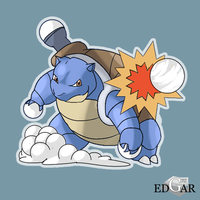 Christmas Blastoise by EdgarGfx