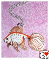 Goldfish necklace by prettyboyswearpink