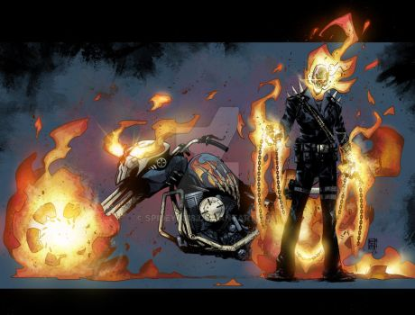 Ghost Rider colors by spidey0318