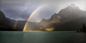 Maligne Lake Rainbow 2012 by mattTIDBALL