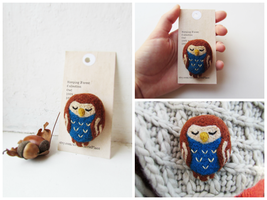 Sleeping Forest Collection: Owl by mar-rie