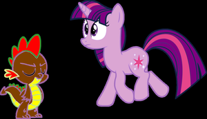 Gift for Starlight and Spike by FireFly1800