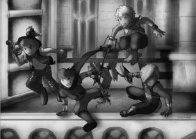 KH Cubed Grayscale by Doodlee-a