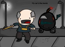 My car's the bomb by Meatball-man