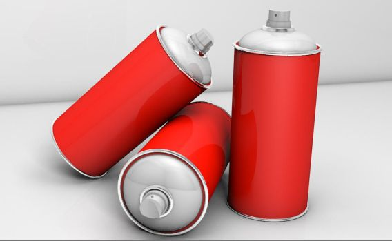 Spray cans 3D by Flono