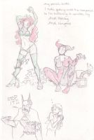 Batman sketchies by AmyClark