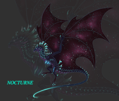Nocturne Wyvern by DelusionalPuffball