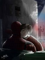 Hide and seek... Spideypool by BestNoLife