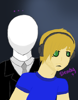 PewDiePie and Slendy by Sophie-The-Great13