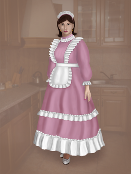 Pink maid by BlackieTV