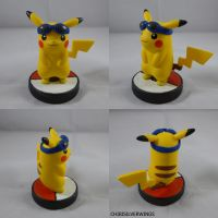 Pikachu Goggles Amiibo by ChibiSilverWings