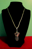 Gemstone Cluster Necklace by BloodRed-Orchid
