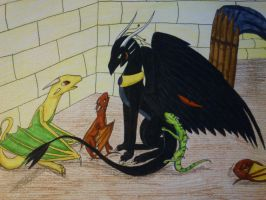 Blackwing and the orphans by cynderplayer