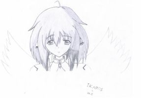 ikaros pencil draw by dragoonhome