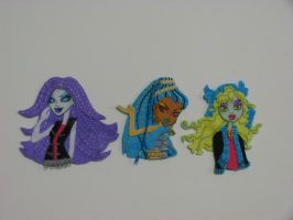 Monster High de Fieltro 3 by Conhiloytelas