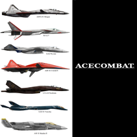 Ace Combat Aircraft by 7H3D3M0NL0RD