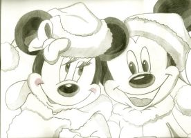 Mickey and Minnie Mouse by andrea-steph