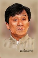 Jackie Chan Smudge Painting by Paulina44