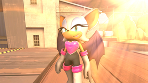 Rouge the Bat Poster (SFM) by SpeedsterZ9000