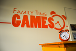 Family Time Games - Mural and Clock by Aminentus