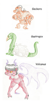 -Poorly Edited in Paint- Main Monster Refs 'n BIOS by StarvingGecko