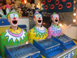 Happy Clown Faces by girlpsychic